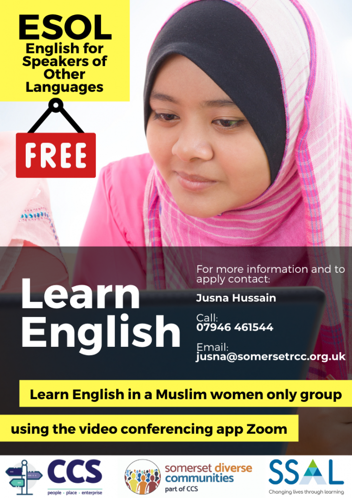 ESOL Muslim women only English classes